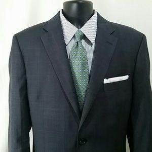 LAUREN RALPH LAUREN Gray Checked Suit Size 42 L